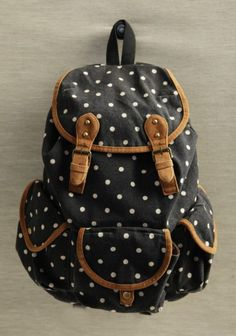 backpack #polkadot