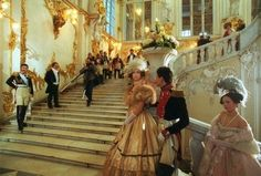 Film - Russian Ark. 100 minutes, one take, 33 rooms in the Winter Palace of the Hermitage, 2000 actors and 3 orchestras