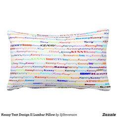 Kenny Text Design II Lumbar Pillow