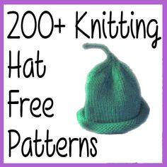 200+ Free Knitting Hat Patterns Updated