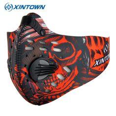 XINTOWN Açık Eğitim Spor Bisiklet Toz Maskesi Bisiklet Bisiklet Maske Naylon Anti PM2.5 Bisiklet Koşu Spor Maske