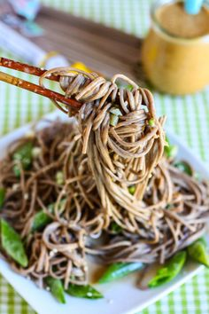 Quick Sesame Soba Noodles (Make sure to use non-GMO or organic canola or oil of choice and organic sugar)