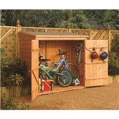 ROWLINSON - 6ft (1.83m) x 3ft (0.83m) Deluxe Rowlinson Tongue & Groove Wallstore / Bike Shed (9mm Solid OSB Floor)
