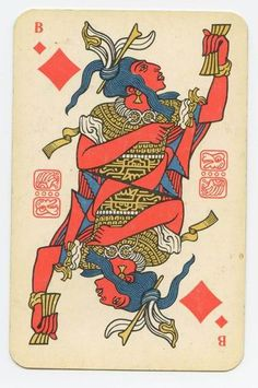 Russian playing cards 2  http://englishrussia.com/2008/10/30/the-soviet-mayan-playing-cards/