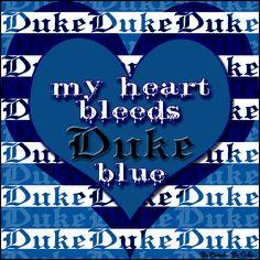 My Heart Bleeds Duke Blue By Carmel Hall
