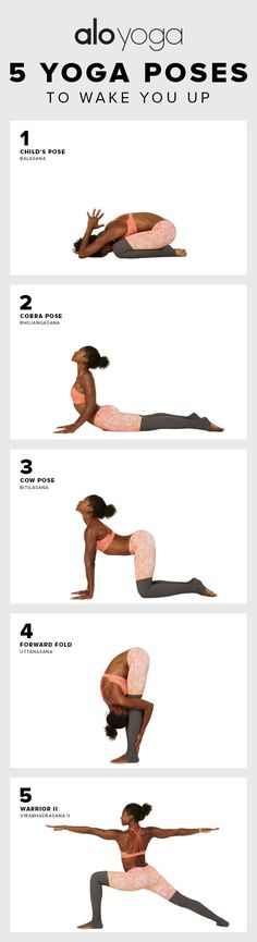 5 Yoga Poses To Wake You Up in the Morning! #betterthancoffee #yoga #stretch #morning #workout