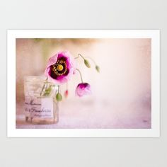 pink poppies Art Print by Twiggs Photography