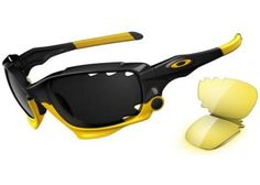 Oakley LIVESTRONG JAWBONE Polished Black with Black Iridium lens & HI Yellow 04-211