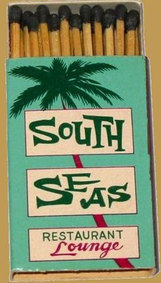 South Seas #matchbox Japanese produced BX3 22 stick #boxmatch. To order your business' own #advertisingmatchboxes GoTo www.GetMatches.com or CALL 800.605.7331 TODAY!