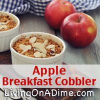 Want a healthy warm breakfast for the kids but not time to fix it? Here is a quick and easy recipe which will be ready and waiting in the morning in the crockpot for you when you get up for just .25 a (Apple Recipes Crockpot)