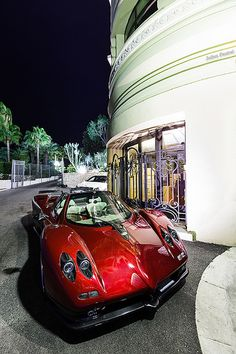 Pagani Zonda C12-S Roadster  Italian gelato & candy super car - just like peas & carrots