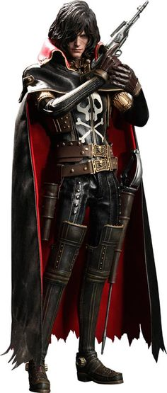 Captain Harlock Movie Masterpiece Action Figure 1/6 Captain Harlock