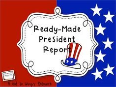President's Day Freebie: A Ready-Made Research Project