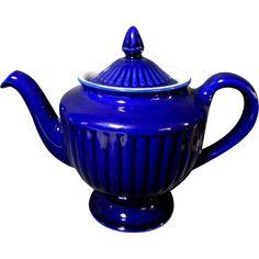 "Vintage Cobalt Blue Hall ""Los Angeles"" 6 Cup Teapot Tea Pot from carolines on Ruby Lane"