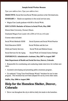 here comes anther free resume example of social worker resume you can preview it here