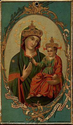 """Nostra Signora della Consolazione de Torino  (""""Our Lady of Consolation of Torino"""", vintage holy card)"""