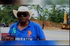 Autoridades de Jarabacoa construyen muros en la carretera para evitar muertes