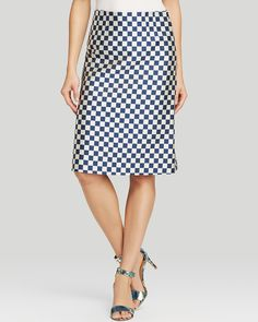 MARC BY MARC JACOBS Pencil Skirt - Checkerboard Jacquard | Bloomingdale's