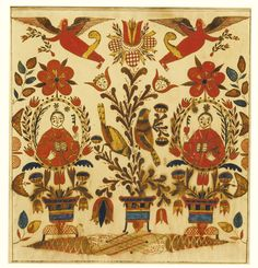 655 RARE WATERCOLOR FRAKTUR: TWO PRIESTS POSSIBLY BERKS OR MONTGOMERY COUNTY, PENNSYLVANIA, CIRCA 1810 Watercolor and ink on paper Inscribed...