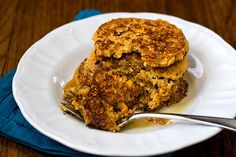 Johnnycakes for vegan & gluten free friends!  Can be done sweet or savory-one recommended spicy w/gazpacho and nachos.  Corn meal, baking soda, baking powder, lemon juice, maple syrup, canola oil, almond milk.