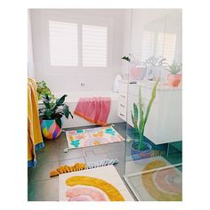 Oops of colour are my thing White Bathroom, Sage, Room Decor, Kids Rugs, Interior, Bathrooms, House, Colour, London