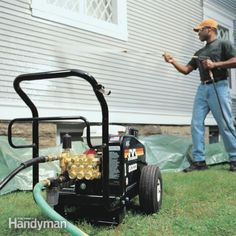 gas or electric pressure washers will clean almost anything outdoors, and they work so quickly and dramatically that they're actually fun. learn how to use one safely and efficiently.