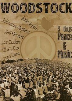 Woodstock 1969 by Eva Woodstock Poster, Woodstock Hippies, 1969 Woodstock, Woodstock Festival, Woodstock Concert, Woodstock Music, Hippie Art, Hippie Style, Hippie Love