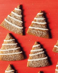Gingerbread trees w lemon icing & more Martha Stewart Christmas cookie recipes.
