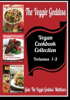 The Veggie Goddess Vegan Cookbooks Collection Volumes 13 Natural Foods  Vegetables and Vegetarian  Special Diet -- Click on the image for additional details.