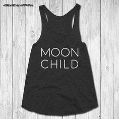 Moon Child Yoga Shirt - moon child yoga tank, yoga tank top, womens yoga top, yoga shirt, yoga workout tank, yoga tanks, racerback tank by AthleticalApparel on Etsy https://www.etsy.com/listing/474062407/moon-child-yoga-shirt-moon-child-yoga