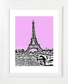 Paris poster on Etsy