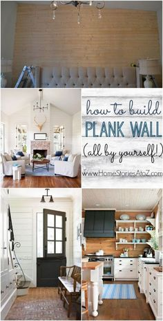 How to Build a Plank Wall - via my little sis! @Beth Hunter  So proud of her! She did this entirely by herself!