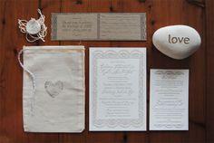 Andrew & Kylie — Fiji Wedding Invite by Kylie McIntyre, via Behance #letterpress #wedding #invite