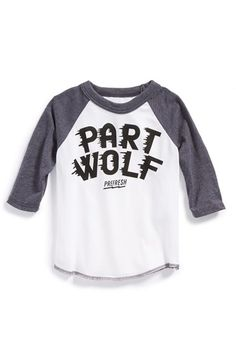 Great for astAte games....PREFRESH 'Part Wolf' Long Sleeve T-Shirt (Baby Boys) available at #Nordstrom