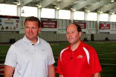 YSU football - Coach Eric Wolford and 21 Sports Director Dana Balash
