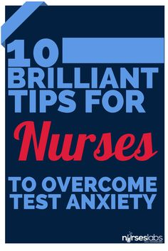 Text anxiety exists among nursing students. Here are some tips on how to reduce or overcome test anxiety: http://nurseslabs.com/10-brilliant-tips-overcome-test-anxiety/