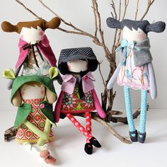Handmade softies by Visual Artist, Maria Madeira - Western Australia plush fairy tale characters in modern style Clothespin Dolls, Needle Felted, Sewing Dolls, Little Doll, Doll Maker, Fabric Dolls, Rag Dolls, Soft Dolls, Soft Sculpture