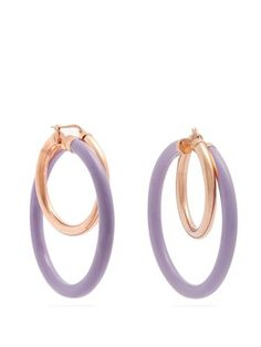 Large double-hoop earrings | Peter Pilotto | MATCHESFASHION.COM AU