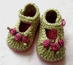 Baby Girl Booties New Baby Booties Light ❤ by TippyToesBabyDesigns, $25.00