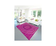 Alfombra artesanal Tivoli Mood, rosa - 140x200 cm