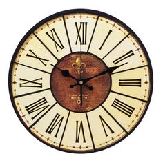 YESURPRISE Pendule Murale en Bois MDF Rond Horloge DIY Vintage Numération romaine 014D: Amazon.fr: Cuisine & Maison
