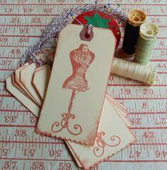 Vintage Dress Form Hang/Gift Tags