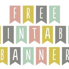 Banderines con Letras Imprimibles Free   Dulzura de Papel
