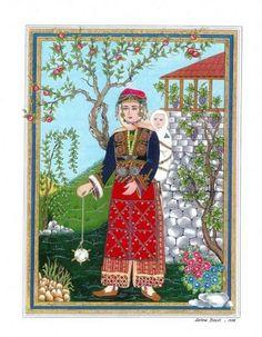 ANADOLU KADIN MINYATÜR Islamic World, Islamic Art, Illustrations, Illustration Art, Dove Drawing, Islamic Paintings, Turkish Art, Mythology, Persian