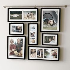 Inspired by the perfectly framed and arranged images in an art gallery, this frame set creates a collage of lifelong memories. Each black-finish frame arrives with a white mat for a professional display. Gallery Wall Frame Set, Gallery Frames, Picture Frame Sets, Picture Wall, Photo Frame Ideas, Hanging Picture Frames, Art Gallery, Organisation Des Photos, Organization