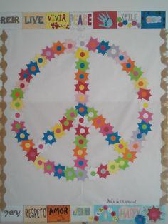 Símbolo de la paz realizado en el aula de Educación Especial.