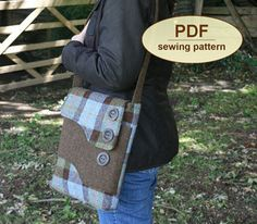 Charlie's Aunt Melford Messenger Bag - Downloadable Pattern