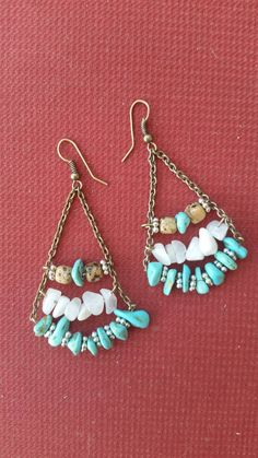 Check out this item in my Etsy shop https://www.etsy.com/listing/248905789/turquoise-trapeze-earrings