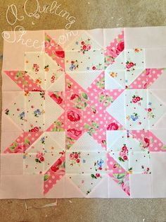 Sewing Block Quilts A Quilting Sheep - super cute blocks Big Block Quilts, Star Quilt Blocks, Star Quilt Patterns, Lap Quilts, Scrappy Quilts, Small Quilts, Mini Quilts, Pattern Blocks, Ribbon Quilt