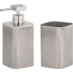 Made Essentials Jeppe Stainless Steel Toothbrush Tumbler and Soap Dispenser Set, Silver from Made.com. NEW Express delivery. Who said essentials can..